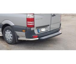 Защита заднего бампера для Mercedes-Benz Sprinter (2006-2014-2018) MBSP.07.B1-09 d60мм x 1.6