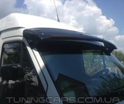 """Козырек лобового стекла для Mercedes Sprinter TDI """"Черный"""" (глянец), Мерседес Спринтер ТДИ"""