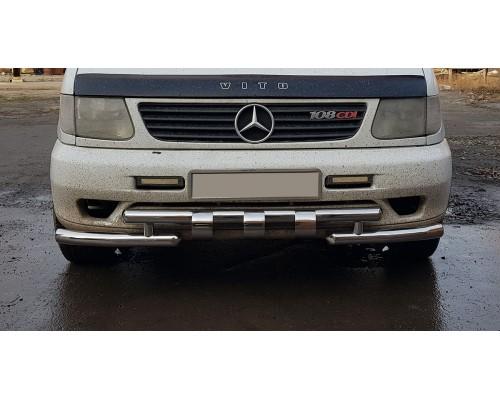 Защита переднего бампера для Mercedes-Benz Vito (1996-2003) MBVT.96.F3-08 d60мм x 1.6