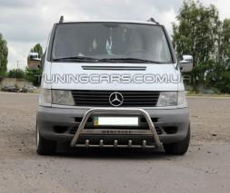 Передняя защита кенгурятник Mercedes-Benz Vito (96 - 03) MBVT.96.F1-09