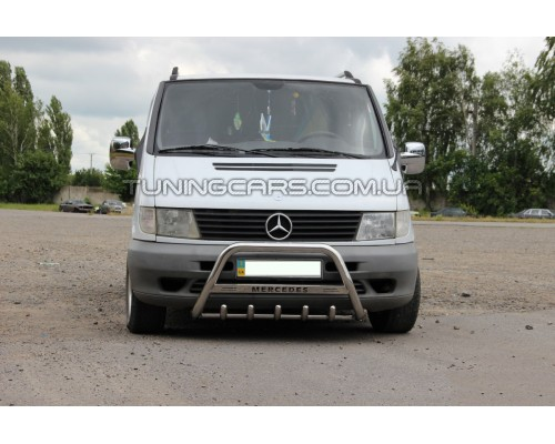 Защита переднего бампера для Mercedes-Benz Vito (1996-2003) MBVT.96.F1-09 d60мм x 1.6