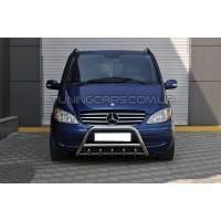 Защита переднего бампера для Mercedes-Benz Vito (2003-2010) F1-03 d60мм x 1.6