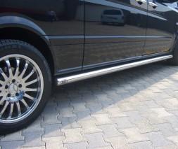 Пороги трубы для Mercedes-Benz Vito (1996-2003) MBVT.96.S1-01 d60мм x 1.6