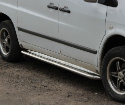 Пороги площадка для Mercedes-Benz Vito (1996-2003) MBVT.96.S2-01 d60мм x 1.6