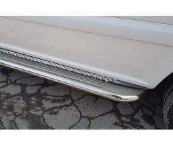 Пороги площадка для Mercedes-Benz Vito (2010-2014) MBVT.10.S2-01L длинная база d60мм x 1.6