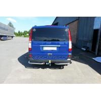 Защита заднего бампера (углы) для Mercedes-Benz Vito (2010-2014) MBVT.10.B1-09 d60мм x 1.6