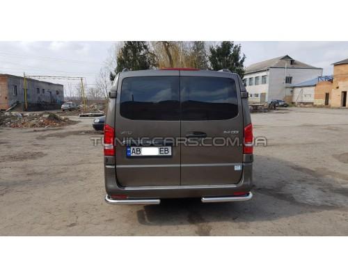 Защита заднего бампера (углы) для Mercedes-Benz Vito (2004-2009) MBVT.04.B1-09 d60мм x 1.6