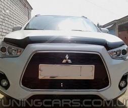 Дефлектор капота (мухобойка) Mitsubishi ASX с 2010, (Митсубиси асх)