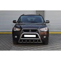 Защита переднего бампера для Mitsubishi ASX (2010-2012) MHAX.10.F1-03 d60мм x 1.6