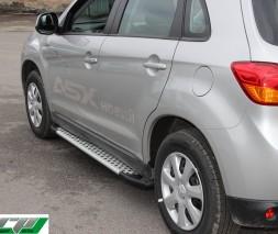 Пороги Mitsubishi ASX [2010+] AB004 (Artemis Silver)