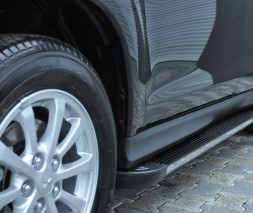 Пороги Mitsubishi ASX [2010+] EB002 (Elegance Black)