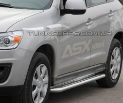 Пороги площадка для Mitsubishi ASX (2010-2012) MHAX.10.S2-01 d60мм x 1.6