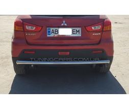 Защита заднего бампера для Mitsubishi ASX (2013+) MHAX.13.B1-02 d60мм x 1.6