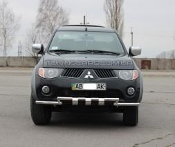Защита переднего бампера для Mitsubishi L200 Triton (2006-2015) MHTR.06.F3-08 d60мм x 1.6