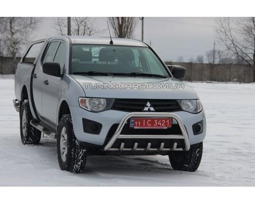Защита переднего бампера для Mitsubishi L200 Triton (2006-2015) MHTR.06.F1-03 d60мм x 1.6