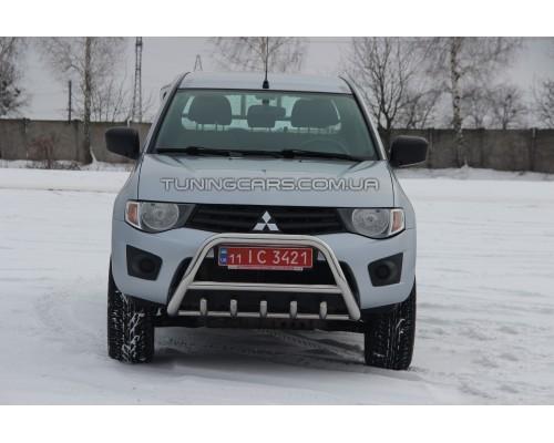 Защита переднего бампера для Mitsubishi L200 Triton (2015+) MHTR.15.F1-03 d60мм x 1.6