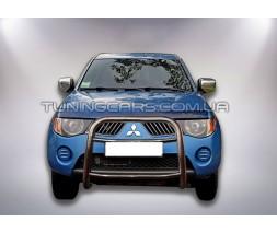 Защита переднего бампера для Mitsubishi L200 Triton (2006-2015) MHTR.06.F2-05 d60мм x 1.6