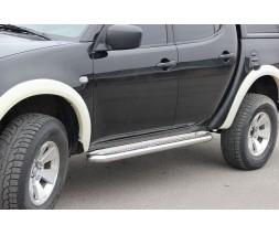 Пороги площадка для Mitsubishi L200 Triton (2006-2015) MHTR.06.S2-01 d60мм x 1.6