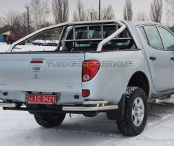 Защитная дуга для кузова Mitsubishi L200 Triton (2006-2015) MHTR.06.C1-04 d60мм x 1.6