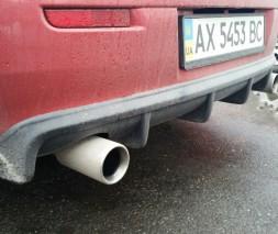 "Накладка на задний бампер Mitsubishi Lancer X ""EVO"""