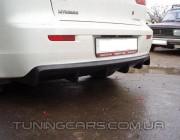 Диффузор на задний бампер Mitsubishi Lancer X, Митсубиши Лансер 10