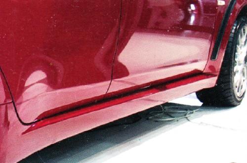 Накладки на пороги Mitsubishi Lancer X EVO