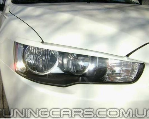 Накладки на фары Mitsubishi Lancer X