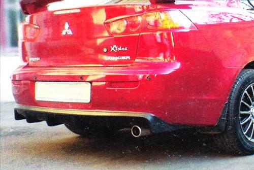 "Накладка на задний бампер Mitsubishi Lancer X ""Evolution"""