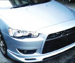 "Накладка на передний бампер Mitsubishi Lancer X ""ZODIAK"""