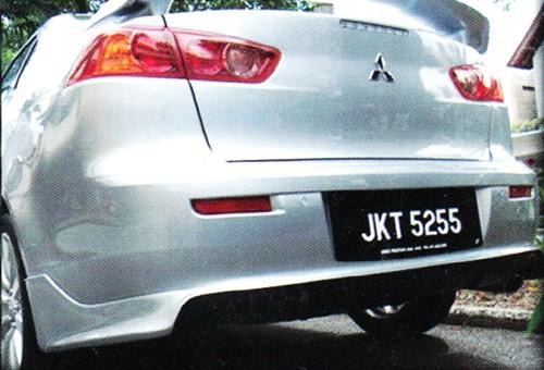 "Накладка на задний бампер Mitsubishi Lancer X ""ZODIAK"""