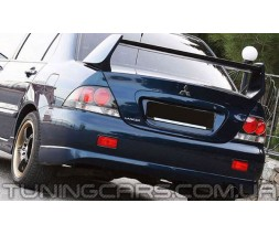 Накладка на задний бампер Mitsubishi Lancer 9 Sport V2.0