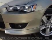 Клыки переднего бампера Mitsubishi Lancer Х, Митсубиши Лансер 10