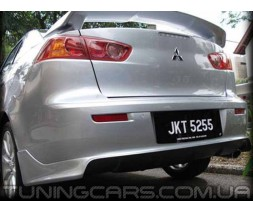 Накладка на задний бампер Zodiak для Mitsubishi Lancer X, Митсубиши Лансер 10 Зодиак