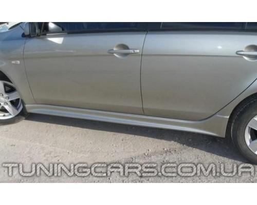 Накладки на пороги Mitsubishi Lancer X, Митсубиши Лансер 10