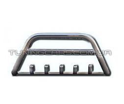 Защита переднего бампера для Mitsubishi Outlander (2006-2010) MHOU.10.F1-03M d60мм x 1.6