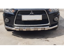 Защита переднего бампера для Mitsubishi Outlander (2010-2012) MHOU.10.F3-12 d60мм x 1.6