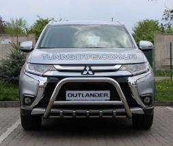 Защита переднего бампера для Mitsubishi Outlander (2012-2014) MHOU.12.F1-03 d60мм x 1.6