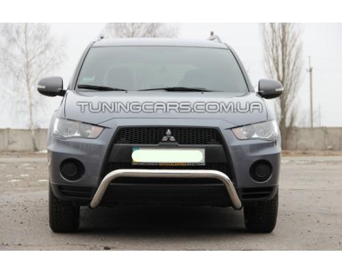 Защита переднего бампера для Mitsubishi Outlander (2012-2014) MHOU.12.F1-23 d60мм x 1.6