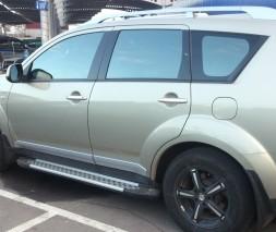 Пороги Mitsubishi Outlander AB004 (Artemis Silver)
