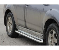 Пороги площадка для Mitsubishi Outlander (2010-2012) MHOU.10.S2-01 d60мм x 1.6