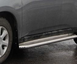 Пороги площадка для Mitsubishi Outlander (2012-2014) MHOU.12.S2-01 d60мм x 1.6