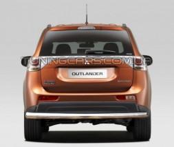 Защита заднего бампера для Mitsubishi Outlander (2006-2010) MHOU.06.B1-02 d60мм x 1.6