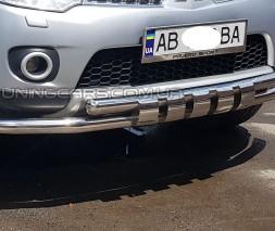 Защита переднего бампера для Mitsubishi Pajero Sport (2008-2013) MHPJ.08.F3-12 d60мм x 1.6