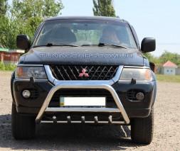Защита переднего бампера для Mitsubishi Pajero Sport (2008-2015) MHPJ.08.F1-03 d60мм x 1.6