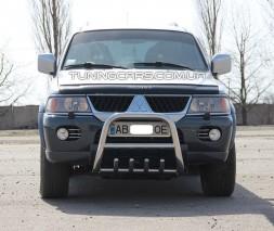 Защита переднего бампера для Mitsubishi Pajero Sport (1996-2008) MHPJ.96.F2-01 d60мм x 1.6