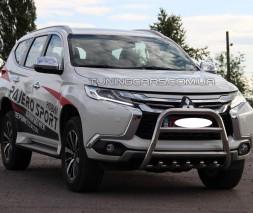 Защита переднего бампера для Mitsubishi Pajero Sport (2016+) MHPJ.16.F2-04 d60мм x 1.6