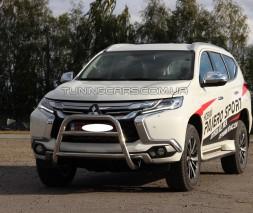 Защита переднего бампера для Mitsubishi Pajero Sport (2016+) MHPJ.16.F2-07 d60мм x 1.6