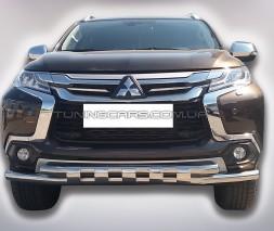 Защита переднего бампера для Mitsubishi Pajero Sport (2016+) MHPJ.16.F3-12 d60мм x 1.6
