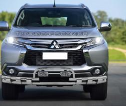 Защита переднего бампера для Mitsubishi Pajero Sport (2016+) MHPJ.16.F3-33 d60мм x 1.6