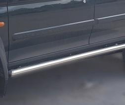 Пороги трубы для Mitsubishi Pajero Sport (1996-2008) MHPJ.96.S1-01 d60мм x 1.6